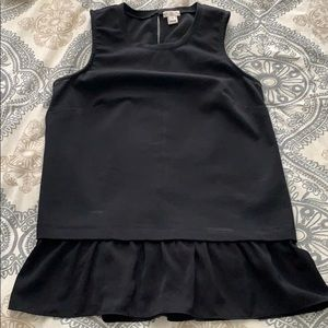 J crew XS with silky ruffles fits loose